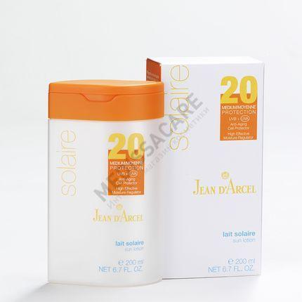 Питательное солнцезащитное молочко SPF 20 Jean d'Arcel — фото №1