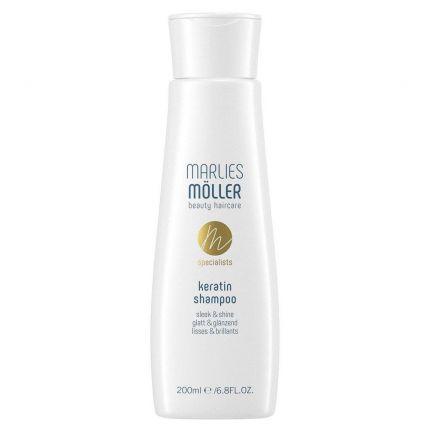 Шампунь з кератином «Гладкість та блиск» / Keratin Shampoo sleek and shine Marlies Moller — фото №1